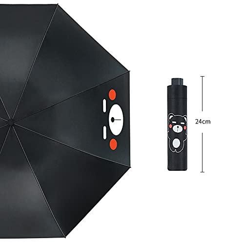 Ziayai Paraguas 3 paraguas plegable a mano reforzado resistente al viento y soleado y lluvioso doble propósito portátil resistente al viento, compacto y ligero viaje de negocios portátil paraguas