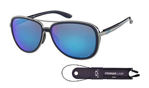 Oakley Split Time OO4129 Sunglasses For Men For Women+BUNDLE with Oakley Accessory Leash Kit