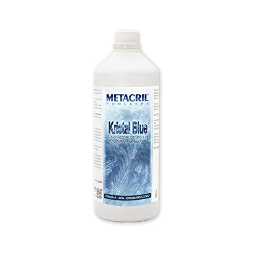 Kristal blu 1 lt + dosificador, Clarificador para agua de spa, jacuzzi o piscina a base natural.