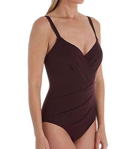 Empreinte Women's Body Underwire Asymmetrical Convertible 1PC Swim VN-Body 32D Pourpre
