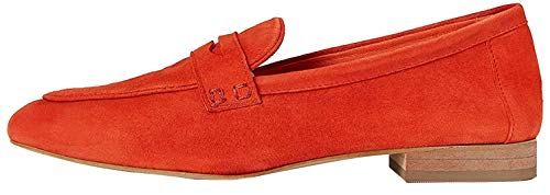 Marca Amazon - FIND Soft Leather Mocasines, Naranja (Burnt Orange), 36 EU