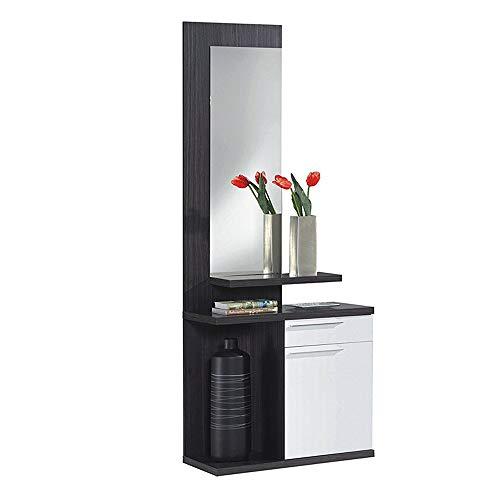 Habitdesign 016746G  Kendra - Recibidor con espejo, mueble de entrada,...