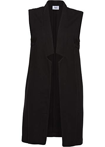 bonprix Schicke Jersey-Weste in Langer Form schwarz 44 für Damen