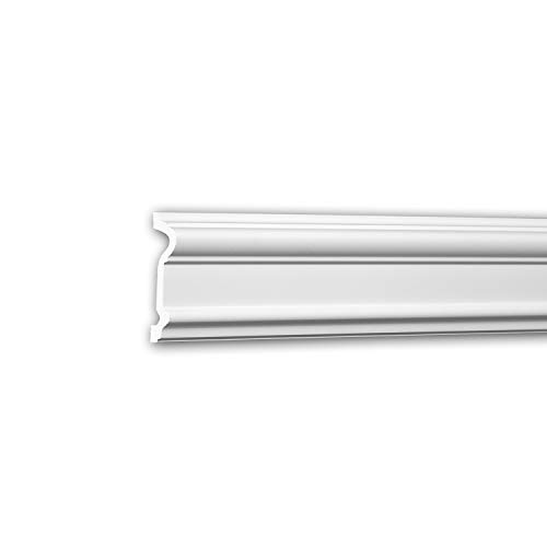 Wand- und Friesleiste PROFHOME 651307 Stuckleiste Zierleiste stoßfest Wandleiste Neo-Klassizismus-Stil weiß 2 m
