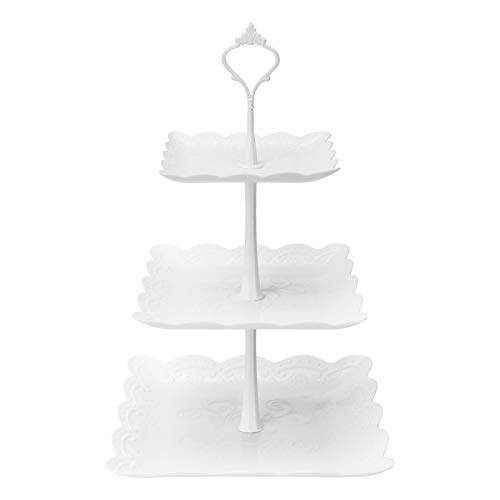 Coitak 3 Tier Cupcake Stand, Plastic Tiered...