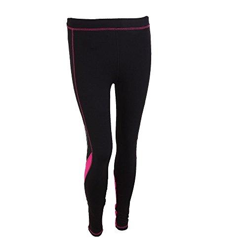 Softee Pantalon Long pour Femme XS Noir/Fuchsia