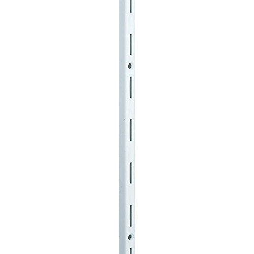 Element System Wandschiene 1-reihig, 2 Stück, 4 Abmessungen, 3 farben, Länge 50 cm für Regalsystem, Regalträger, Wandregal, weiß, 10000-00000