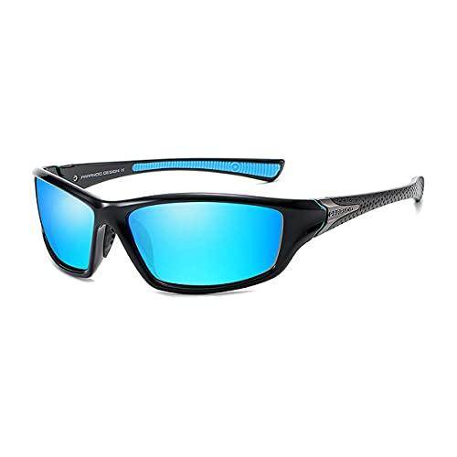 Mantimes Gafas de sol para hombre Deportes ciclismo running Rectangular mujeres polarizadas gafas de sol hombre conducción golf béisbol gafas de espejo (azul)
