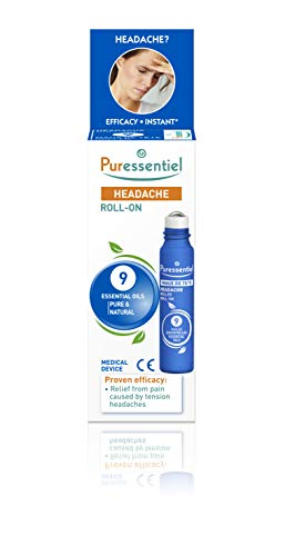 Puressentiel Headache Roll-On, 5 ml - Relief from pain caused by tension headaches - Proven efficacy - Instant refreshing effect - Optimal skin tolerance - 100% pure & natural essential oils