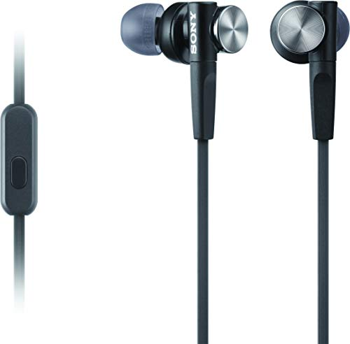 Sony MDR-XB50AP/B Extra Bass Earbud Headphones (Black)