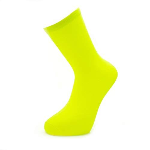Herren Neon Teddy Jungen Socken Rock N Roll 60er 70er 80er Jahre Kostüm Socken Gr. 39-45, gelb