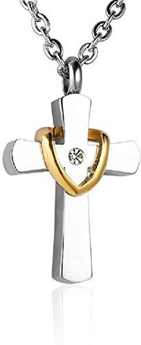 Urne Halskette Memorial Asche Andenken Asche Urne Anhänger Trompete Lady Cross Golden Drape Cremated Jewelry Halskette Halskette Memorial Ash Anhänger