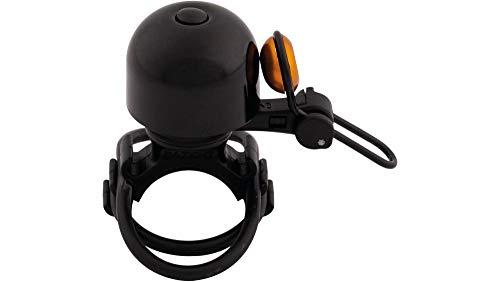 RennMaxe Fahrrad Glocke Klingel Diamond Bing schwarz/orange für Uni-Klemmung