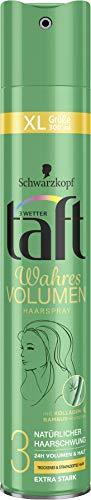3 Wetter taft Haarspray Wahres Volumen strapaziertes Haar extra starker Halt, 6er Pack(6 x 300 ml)