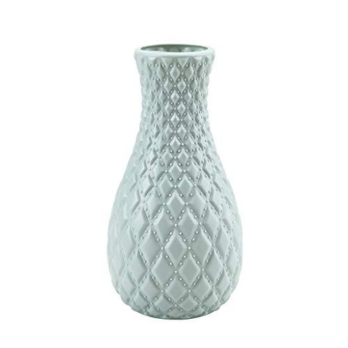 JSFGFSDH Jarrón de plástico estilo nórdico de imitación de cerámica para decoración del hogar