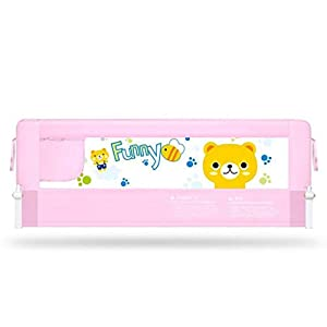 AMYAL Safety Bed Rails Bed Guard Portable Rail Travel Bed Rail Anti-Falling Bedroom Protective Toddler Kids Nursery (Color : Pink, Size : 150cm)