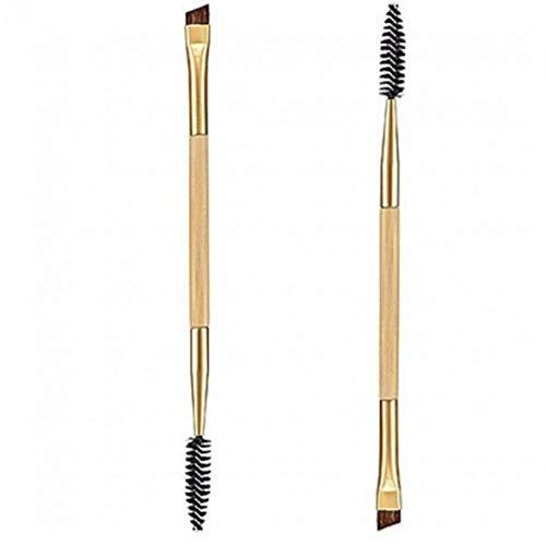 Oulensy 1PCS Maquillage Bambou poignée Double Brosse à Sourcils + Peigne Sourcils