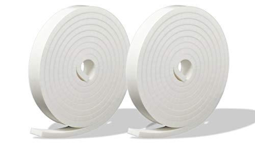 プランプ オリジナル 隙間テープ スキマッチ 白 ホワイト 厚 5 mm × 幅 15 mm × 長 2m 2巻入 日本製 ゴムスポンジ 防水 防音 すきま 窓 玄関 引き戸 隙間