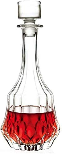 TQJ Botella de Whisky con Vaso Decantador De Vinos Jarras Jarras Bodega De Vino Botella De Cristal 1000ml Botella de Whisky Regalo