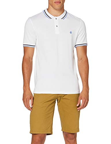 Springfield Herren 5ba BSC Slim Tipping Org-c/99 Poloshirt, Weiß (White 99), Large