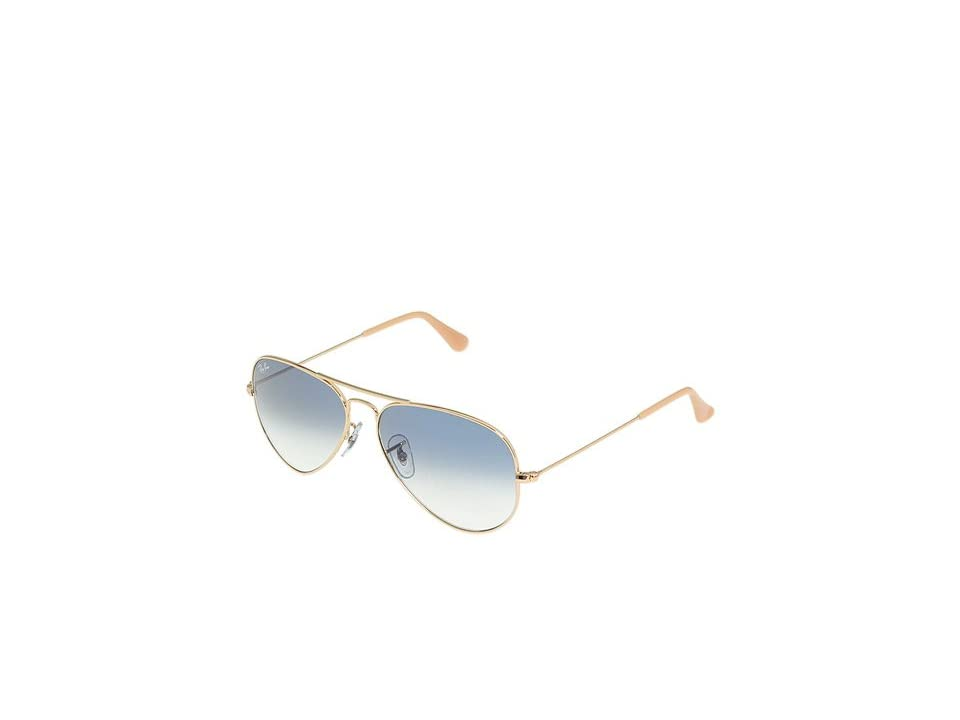 Ray-Ban RB3025 Original Aviator 55mm (Arista/Gradient Light Blue Lens) Metal Frame Fashion Sunglasses