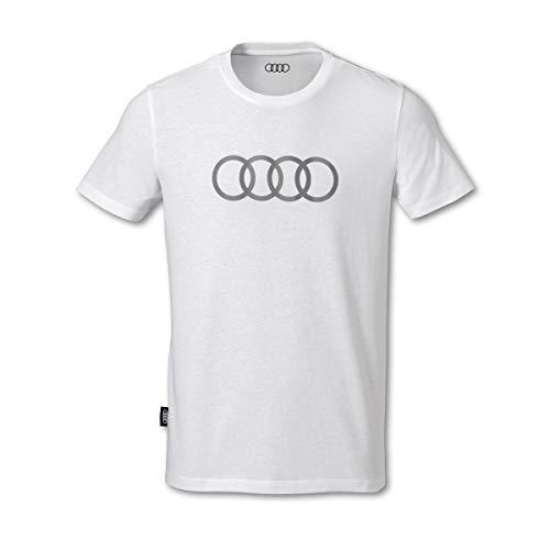 Audi Herren T-Shirt Ringe weiß (XXL)