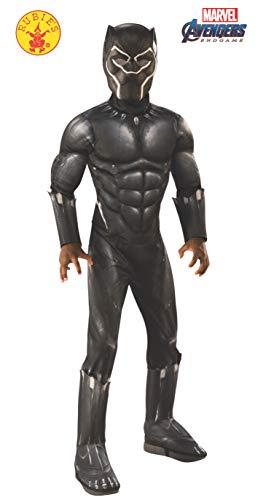 Rubie's, Costume Ufficiale Avengers Black Panther, per Bambini, Taglia L, età 8-10, Altezza 147 cm