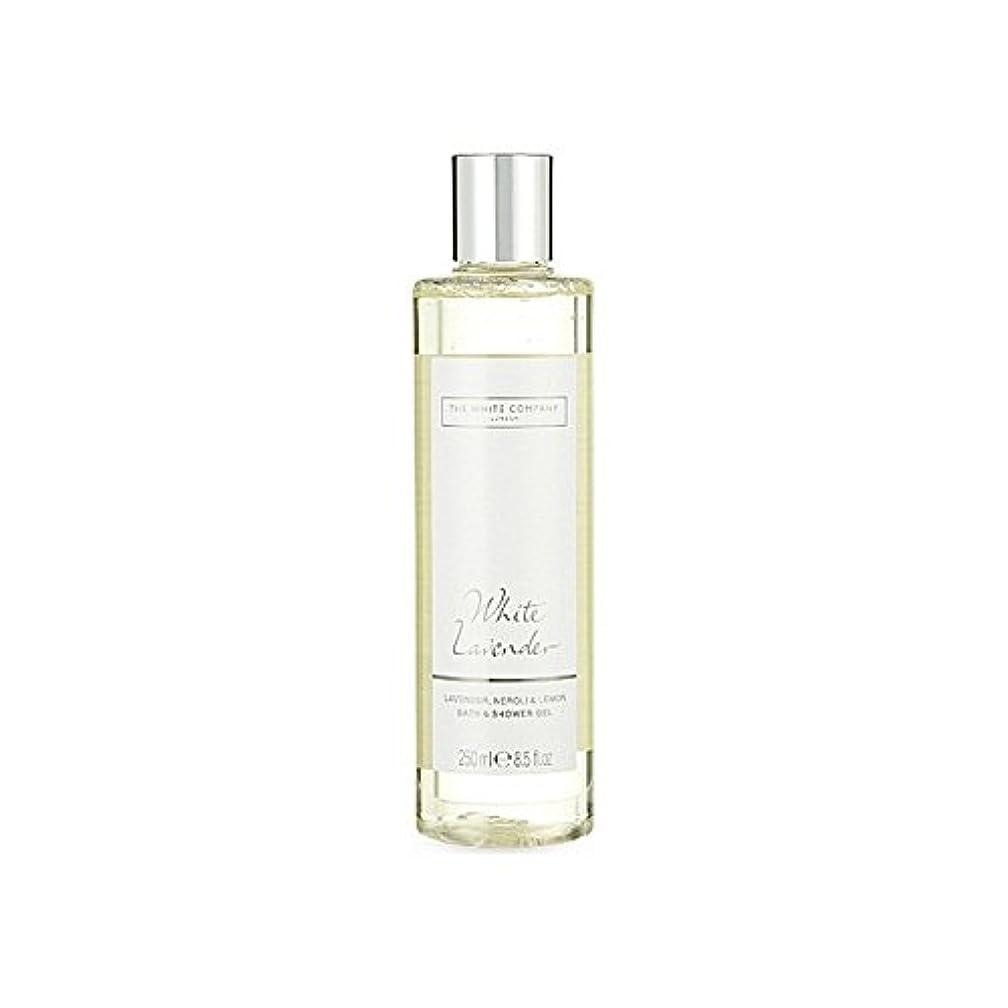 一晩研究所感情のThe White Company White Lavender Bath & Shower Gel (Pack of 6) - 白同社白ラベンダーのバス&シャワージェル x6 [並行輸入品]