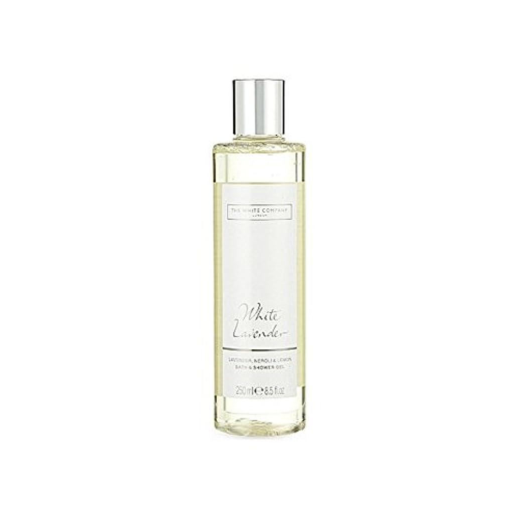 絶望的な血統不明瞭白同社白ラベンダーのバス&シャワージェル x4 - The White Company White Lavender Bath & Shower Gel (Pack of 4) [並行輸入品]