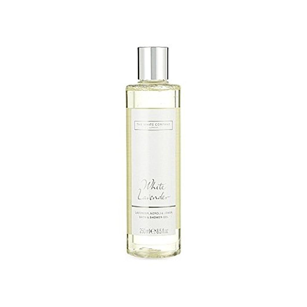 ガム外向き質素なThe White Company White Lavender Bath & Shower Gel (Pack of 6) - 白同社白ラベンダーのバス&シャワージェル x6 [並行輸入品]