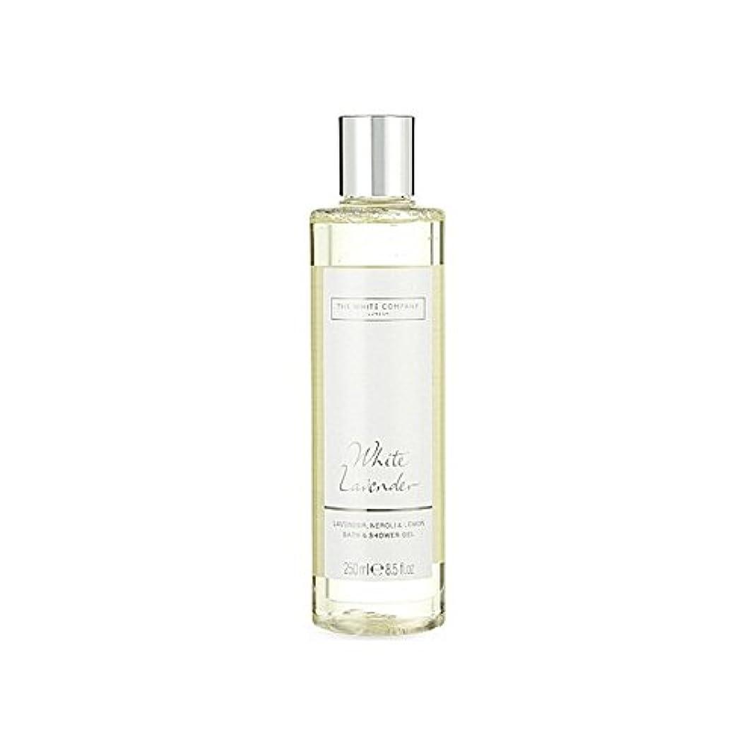 影呼吸いらいらさせる白同社白ラベンダーのバス&シャワージェル x2 - The White Company White Lavender Bath & Shower Gel (Pack of 2) [並行輸入品]
