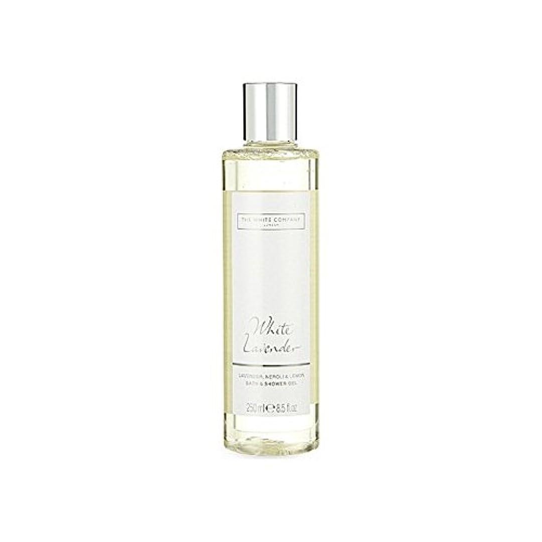 岸データム致命的白同社白ラベンダーのバス&シャワージェル x4 - The White Company White Lavender Bath & Shower Gel (Pack of 4) [並行輸入品]