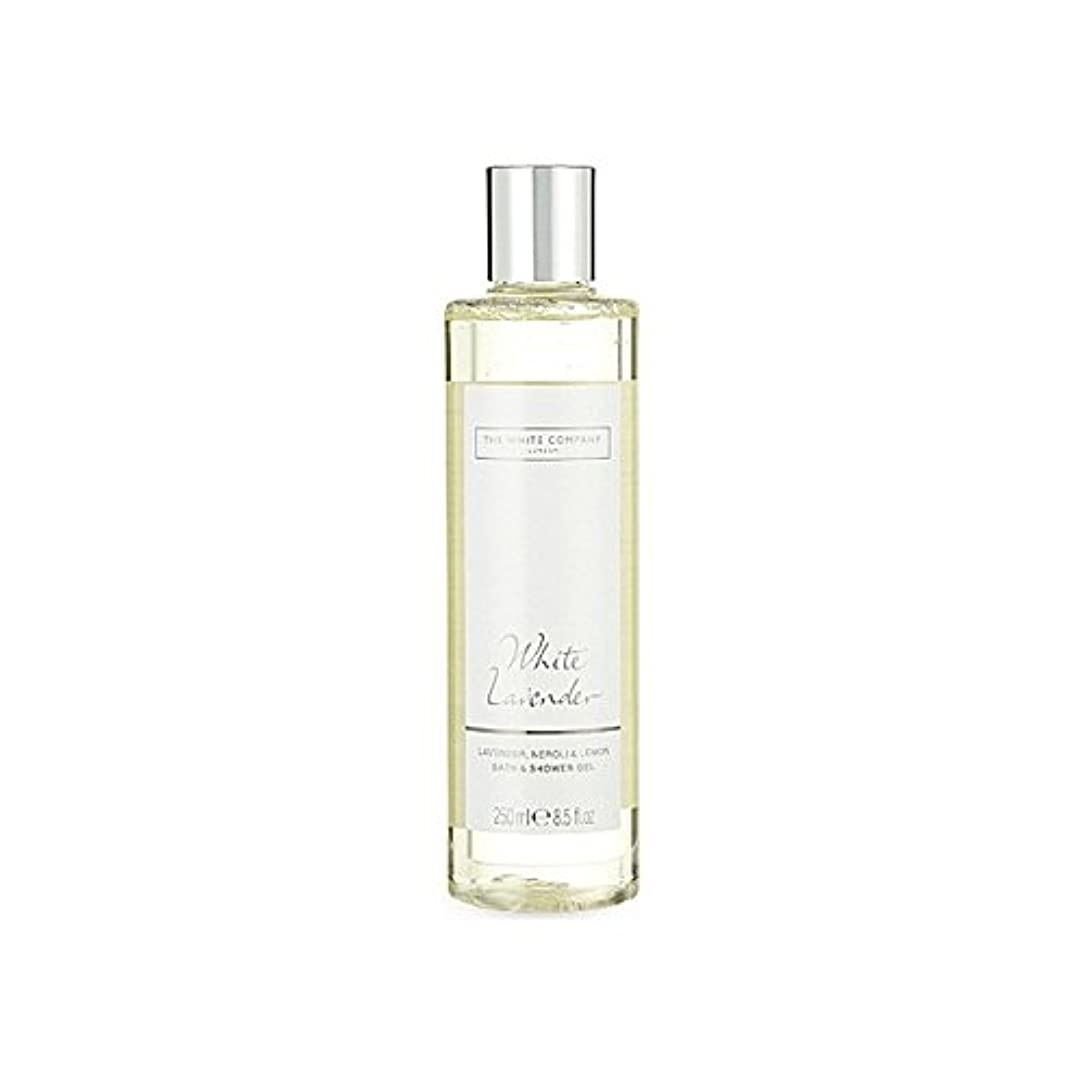 The White Company White Lavender Bath & Shower Gel (Pack of 6) - 白同社白ラベンダーのバス&シャワージェル x6 [並行輸入品]
