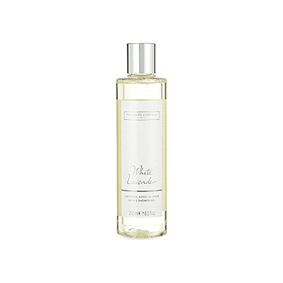 爵子羊ホイットニー白同社白ラベンダーのバス&シャワージェル x2 - The White Company White Lavender Bath & Shower Gel (Pack of 2) [並行輸入品]