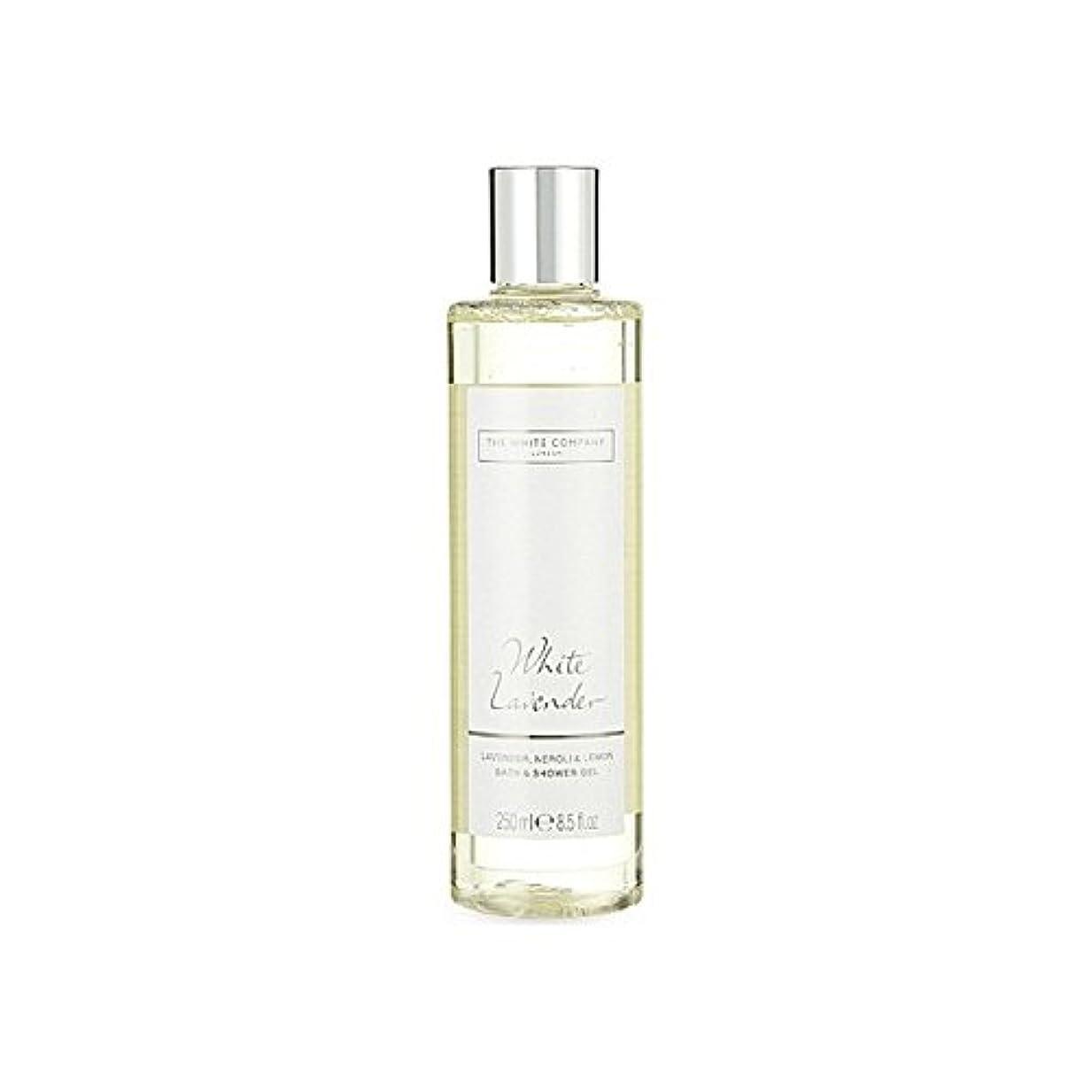 シャー食料品店電球白同社白ラベンダーのバス&シャワージェル x2 - The White Company White Lavender Bath & Shower Gel (Pack of 2) [並行輸入品]