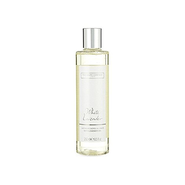 素人予備戦いThe White Company White Lavender Bath & Shower Gel - 白同社白ラベンダーのバス&シャワージェル [並行輸入品]