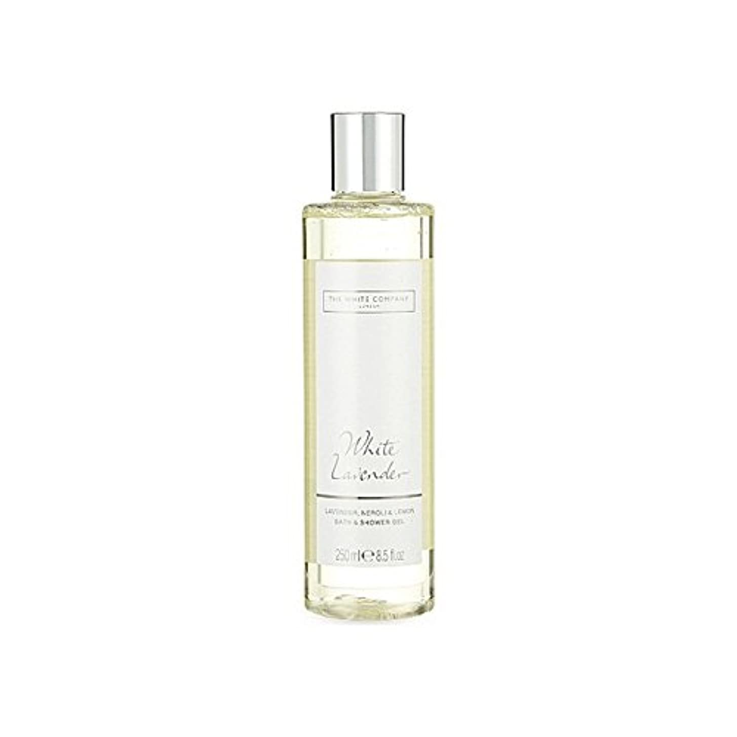 意図する効果所属白同社白ラベンダーのバス&シャワージェル x4 - The White Company White Lavender Bath & Shower Gel (Pack of 4) [並行輸入品]