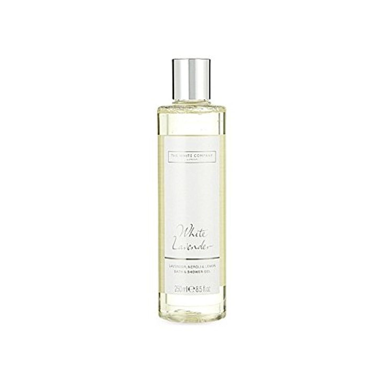 顕著死すべき頼む白同社白ラベンダーのバス&シャワージェル x2 - The White Company White Lavender Bath & Shower Gel (Pack of 2) [並行輸入品]