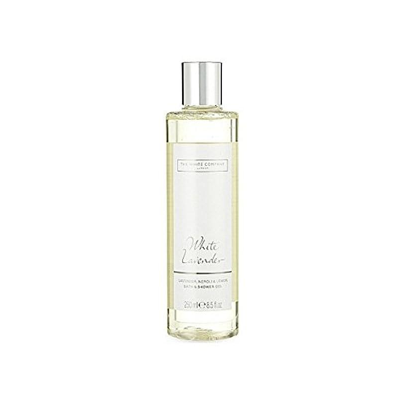 リッチ開始圧縮The White Company White Lavender Bath & Shower Gel (Pack of 6) - 白同社白ラベンダーのバス&シャワージェル x6 [並行輸入品]
