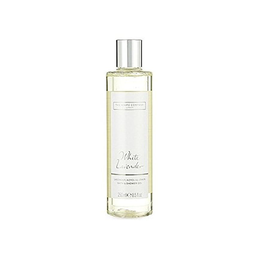 移行する同級生うめき白同社白ラベンダーのバス&シャワージェル x2 - The White Company White Lavender Bath & Shower Gel (Pack of 2) [並行輸入品]