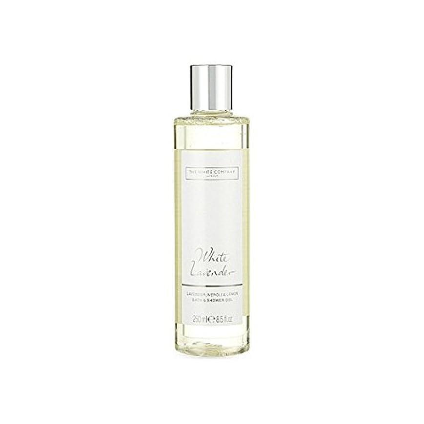 雇用者スキーベンチThe White Company White Lavender Bath & Shower Gel (Pack of 6) - 白同社白ラベンダーのバス&シャワージェル x6 [並行輸入品]