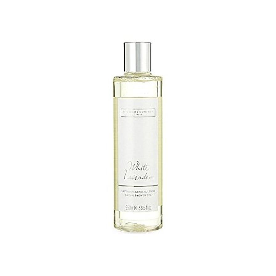 ハンディキャップ単に論文The White Company White Lavender Bath & Shower Gel - 白同社白ラベンダーのバス&シャワージェル [並行輸入品]