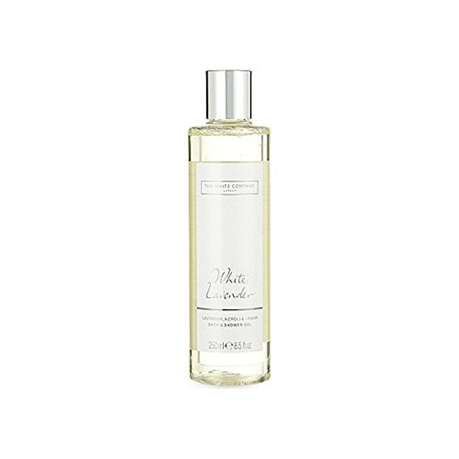 ロデオ断言するより白同社白ラベンダーのバス&シャワージェル x2 - The White Company White Lavender Bath & Shower Gel (Pack of 2) [並行輸入品]