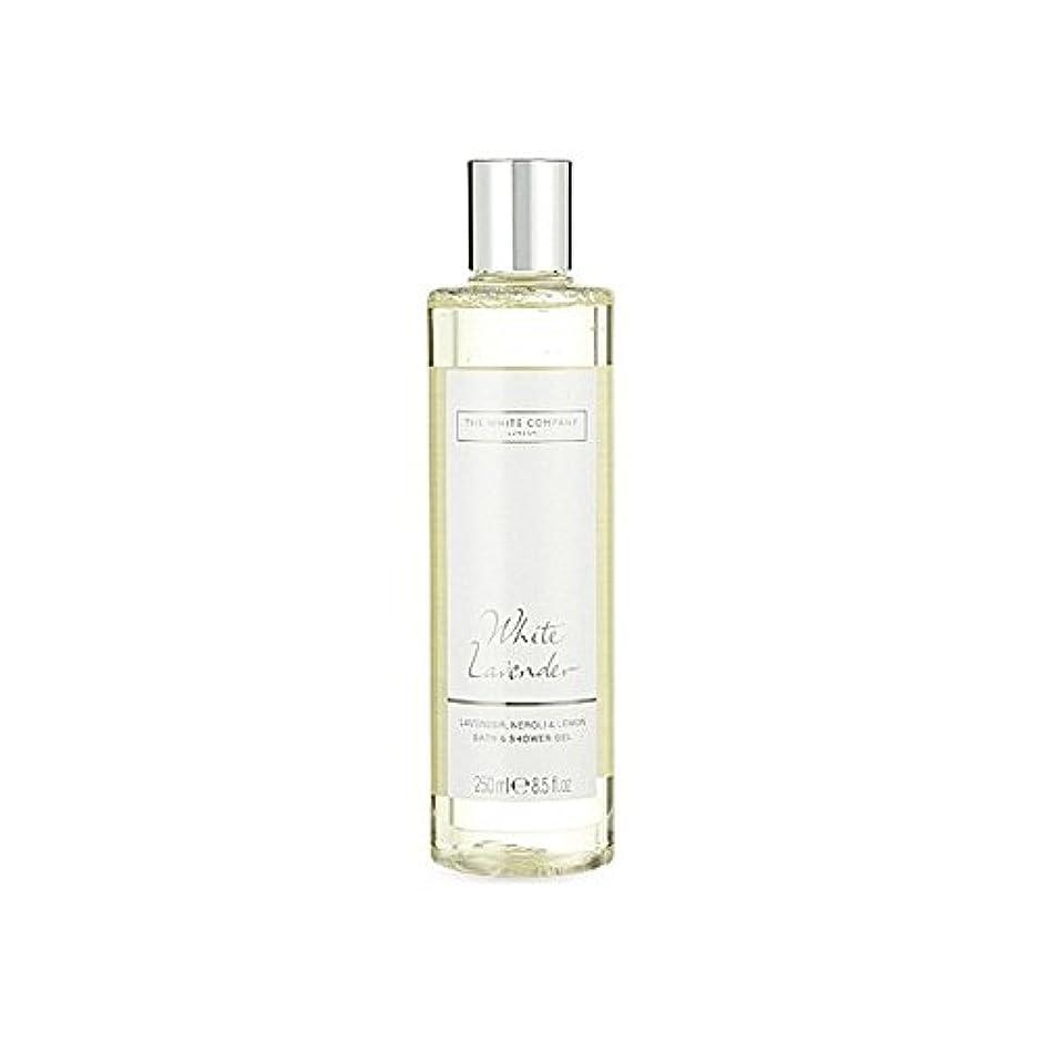 伝染性作者ブレイズ白同社白ラベンダーのバス&シャワージェル x2 - The White Company White Lavender Bath & Shower Gel (Pack of 2) [並行輸入品]