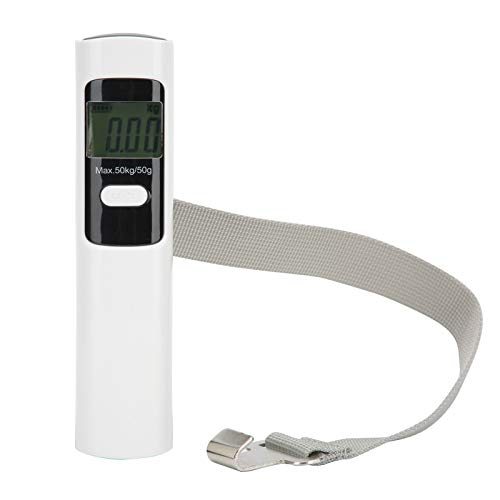 Alimentado por agitación manual Báscula de pesaje sin batería Báscula de equipaje Báscula de bolsillo Pesaje preciso para uso doméstico con pantalla LCD