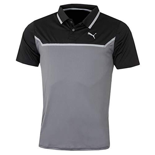Puma Golf Hommes Bonded Tech Polo - Noir/Quiet Shade - XL