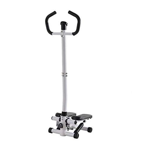 Mini pasador hidráulico hidráulico para deportes en casa, paso a paso de fitness, doble poste hidráulico con pantalla LCD y reposabrazos.