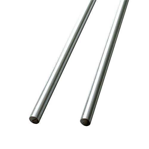 GUWANJI 2Pcs 12mm x 600mm Linear Optical Axis Linear Rod Straight Round Bearing Steel Cylinder Rail Shaft Diameter 12mm Length 23.6 inch(600mm) Case Hardened Chrome Linear Motion Shafts