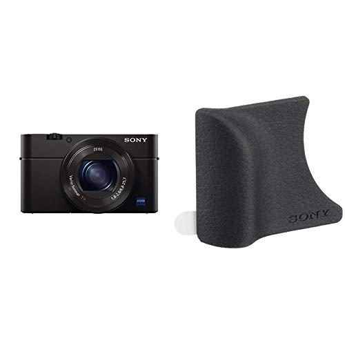 Sony RX100 III Premium Kompakt Digitalkamera (20.1 MP, 7,6 cm (3 Zoll) Display, 1 Zoll Sensor, 24-70 mm F1.8-2.8 Zeiss Objektiv) (DSC-RX100M3) + AG-R2 Griffbefestigung