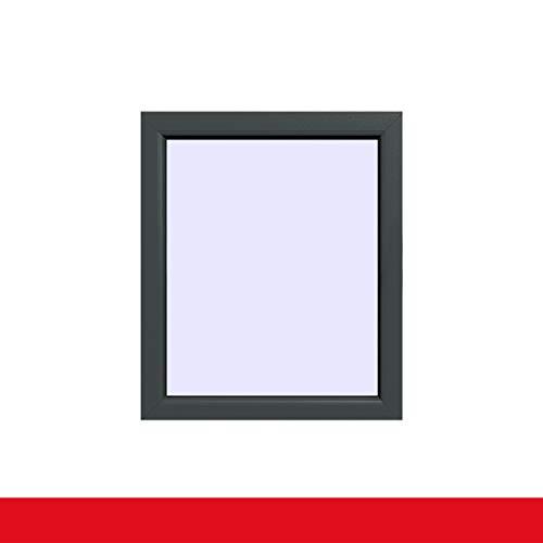 Festverglasung einflügeliges Fenster | Schiefergrau Glatt